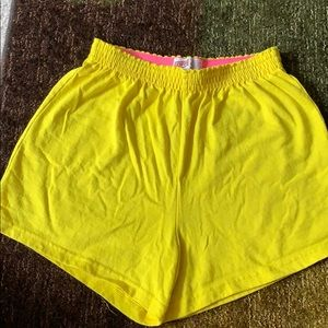Yellow soffe shorts